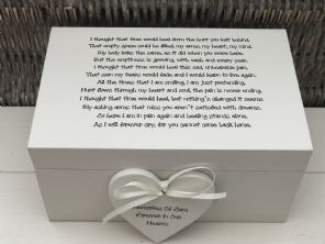 Personalised LARGE Box In Memory Of A Loved One ~ Loss Of Daughter Son Any Name - 232685575961